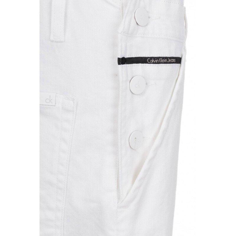 Ogrodniczki Calvin Klein Jeans biały