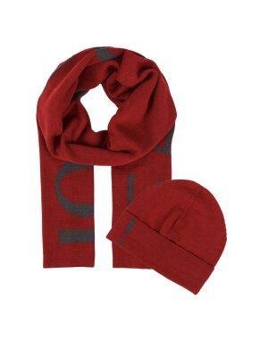 Joop! Jeans Woolen beanie + woolen double-sided scarf Rob