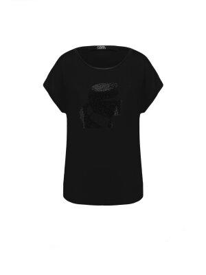 Karl Lagerfeld T-shirt Rhinestone Head