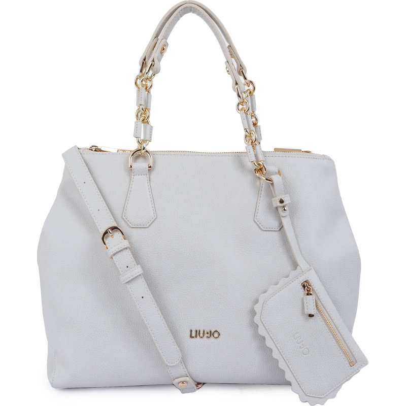 BORSA LIU JO DETROIT A18004 SHOPPING 3 SCOMPARTI BAG L GRIGIO GREY ... 281542a4eac