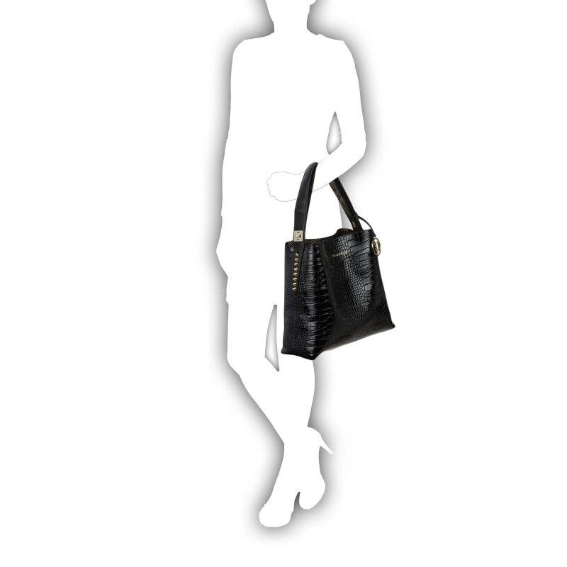 Shopperka + Torebka Trussardi Jeans czarny