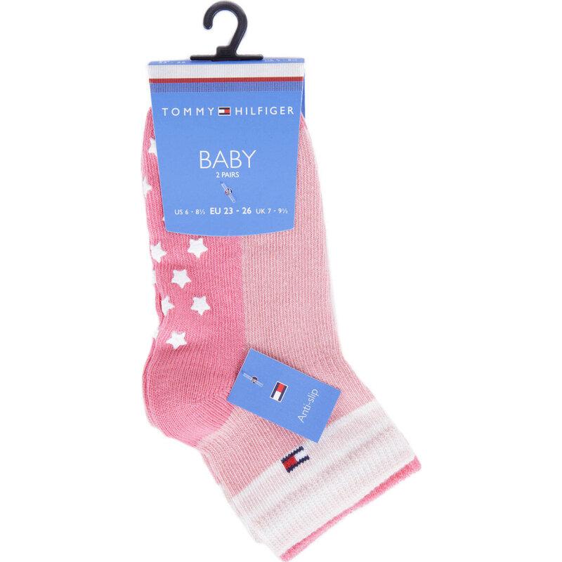 Skarpetki 2-pack Tommy Hilfiger różowy