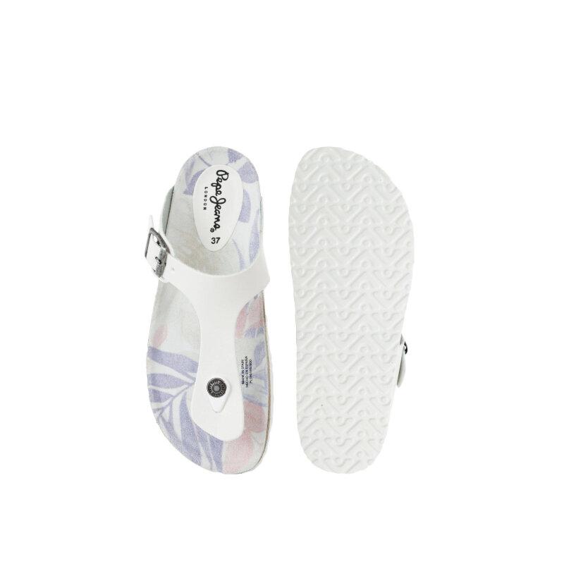 Oban Alexander flip-flops Pepe Jeans London white