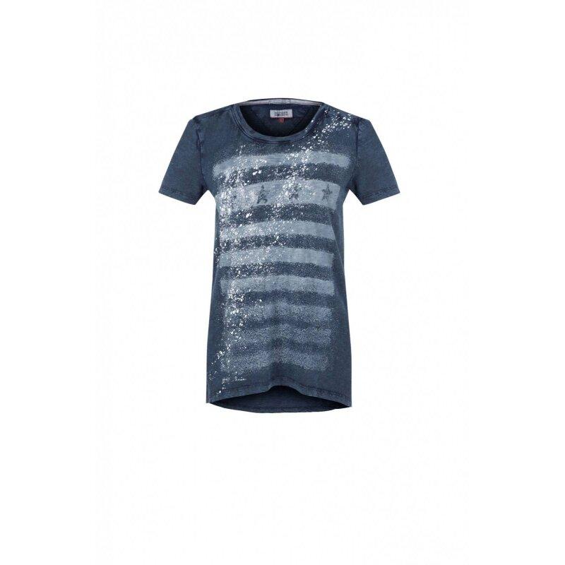 T-shirt thdw Hilfiger Denim granatowy