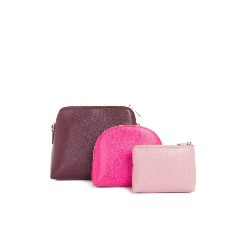 Messenger bag + cosmetic bag Furla burgundy
