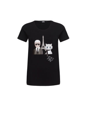Karl Lagerfeld T-shirt Karl & Choupette in Paris