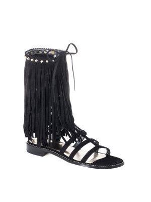 Stuart Weitzman Fringebenefr gladiator sandals