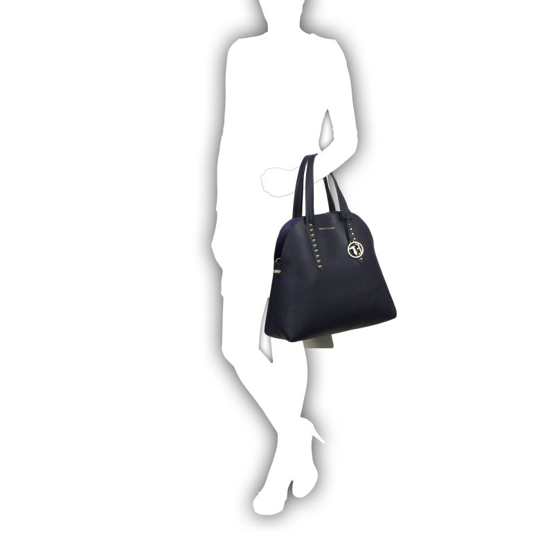 Shopperka + Listonoszka Trussardi Jeans granatowy