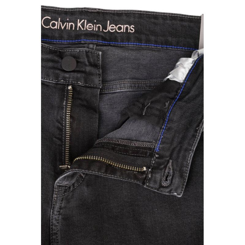 Jeansy Slim Straight Calvin Klein Jeans szary