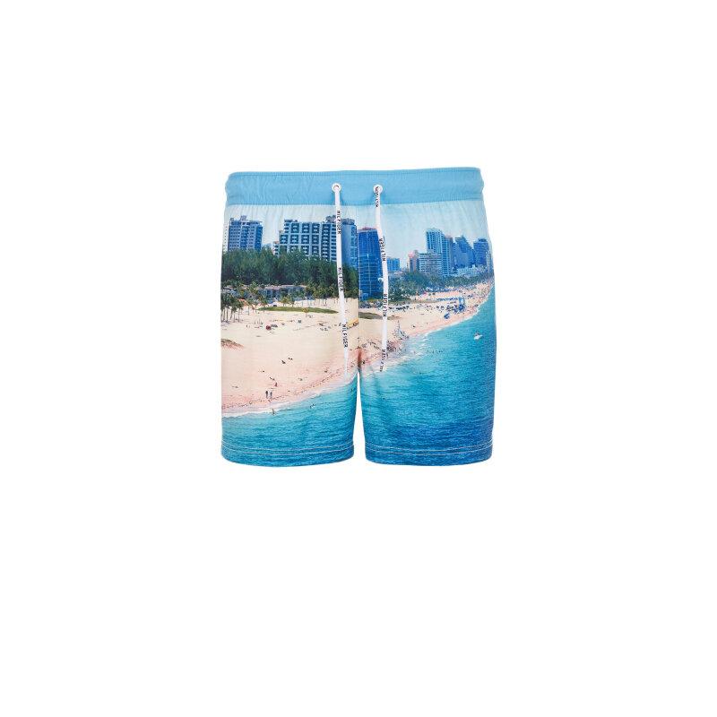 Szorty kąpielowe printed Hilfiger Denim niebieski