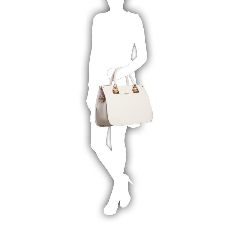 M Quadrata Shopper bag Liu Jo white