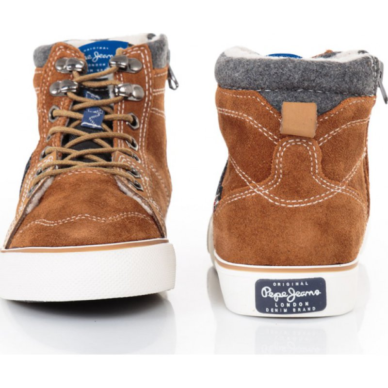 Sneakersy Traveler Mountain Pepe Jeans London brązowy