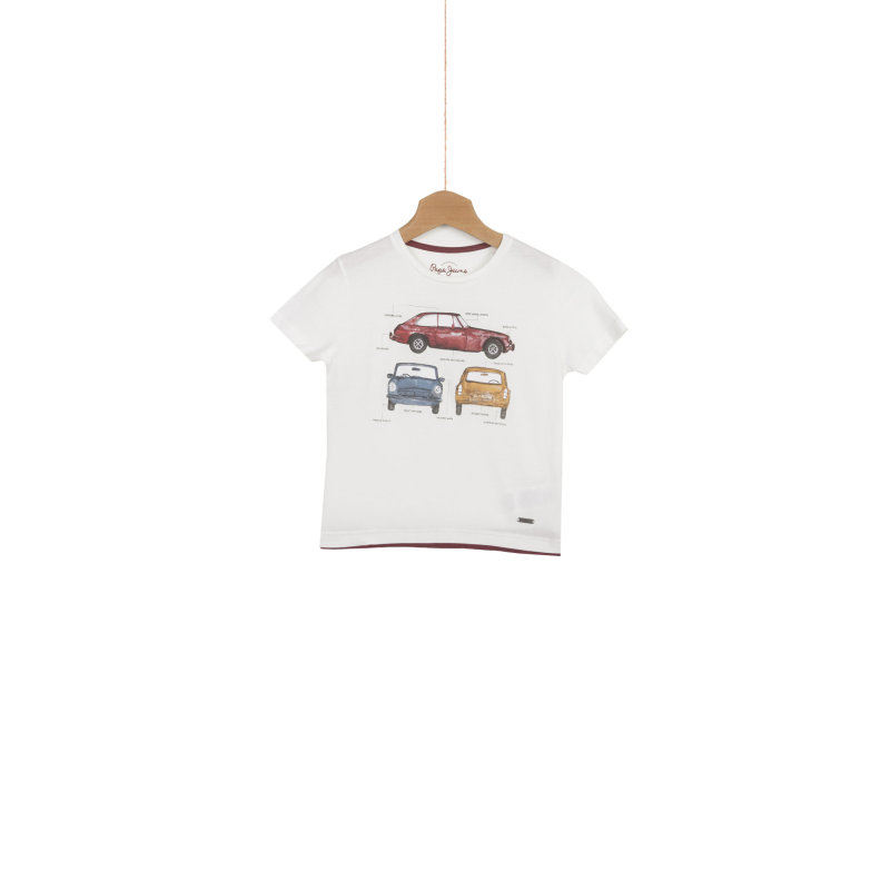 T-shirt Trents SS Pepe Jeans London kremowy