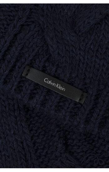 Szal Elza Calvin Klein granatowy