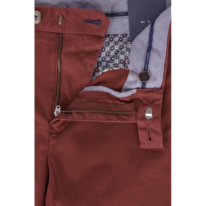 Spodnie Chino Denton Tommy Hilfiger bordowy