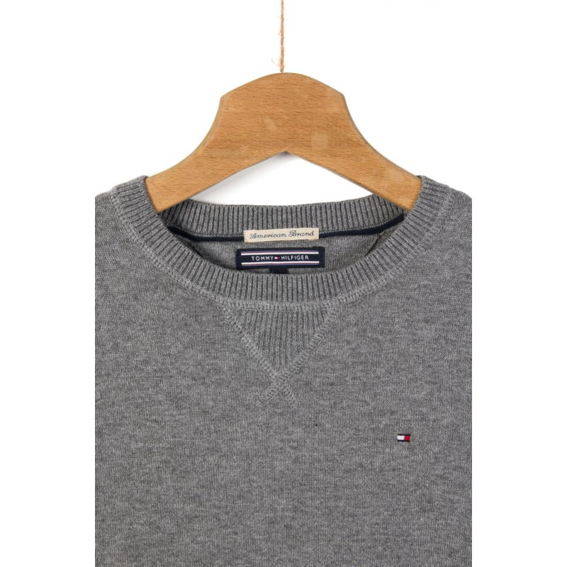 Sweter Tommy Tommy Hilfiger szary