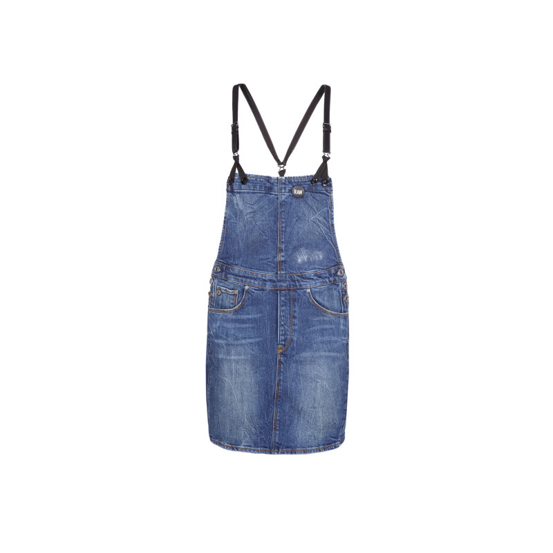 Arc Dungaree Short dress G-Star Raw blue