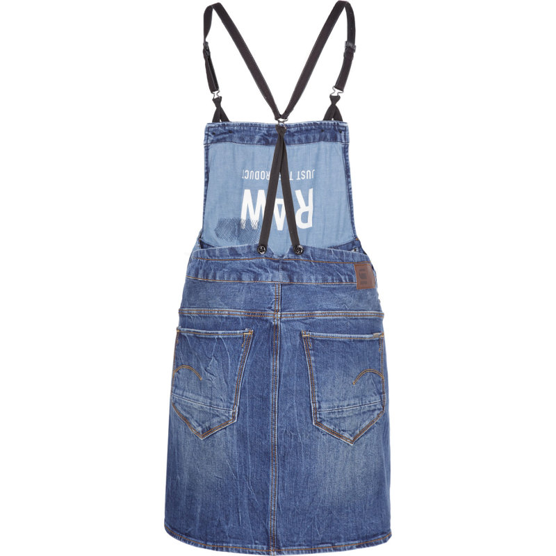 Sukienka Arc Dungaree Short G-Star Raw niebieski