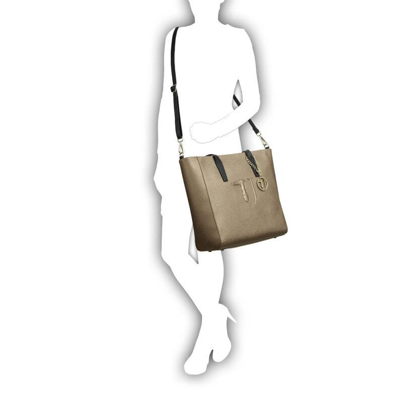 Shopperka Trussardi Jeans złoty