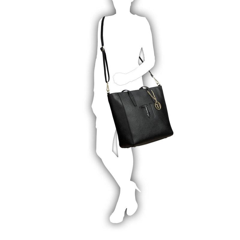 Shopperka Trussardi Jeans czarny
