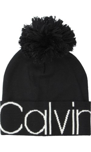 Calvin Klein Cap calvin pom pom   with addition of wool