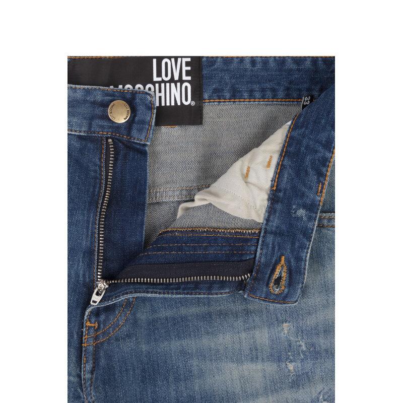 Jeansy Love Moschino niebieski
