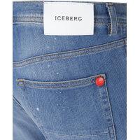 Jeansy London 28 Iceberg niebieski