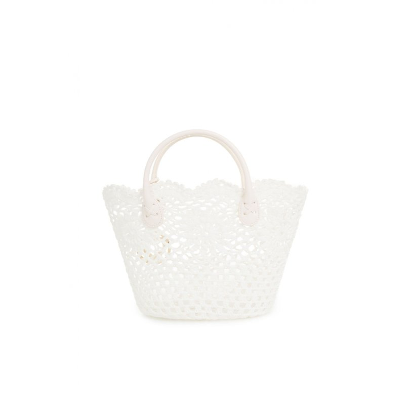 Basket bag Twin-Set white