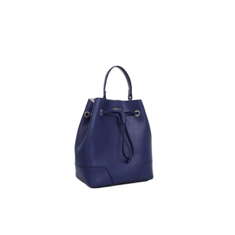 Stacy S bag + cosmetic bag Furla navy blue