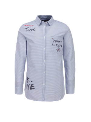Tommy Hilfiger Koszula Slogan Text