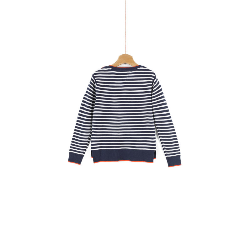 Sweter Bow Tommy Hilfiger granatowy