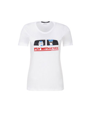 Karl Lagerfeld Fly With Karl T-shirt