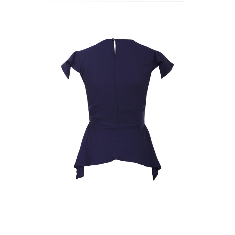 Blouse Elisabetta Franchi navy blue