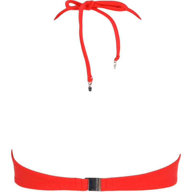 Góra od bikini Bandeau Tommy Hilfiger czerwony
