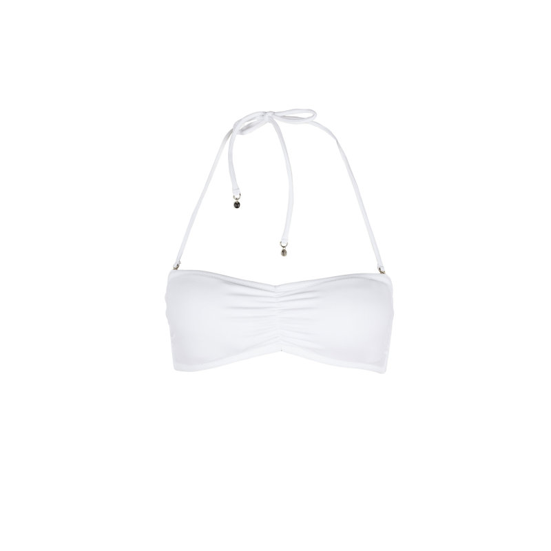 Góra od bikini Bandeau Tommy Hilfiger biały