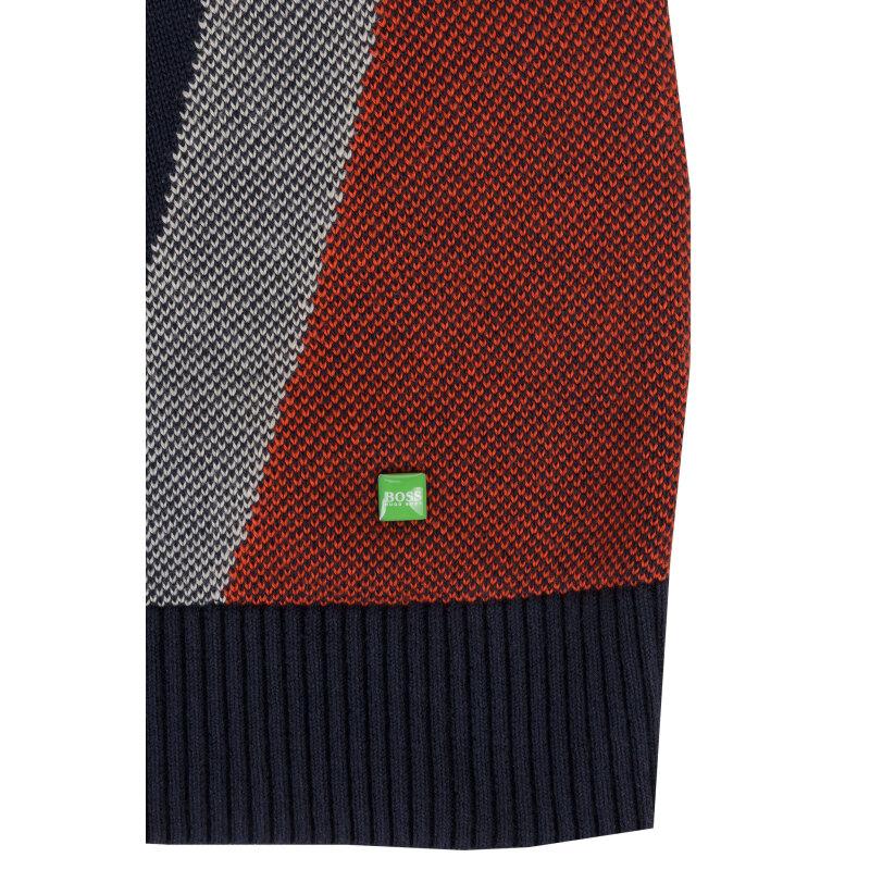 Sweter Zelchior_pro_W16 Boss Green granatowy