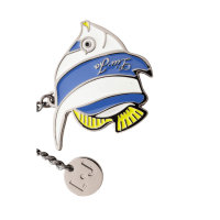 Tropical Fish Keyring Liu Jo white