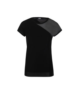 Karl Lagerfeld Sheer Detail Blouse