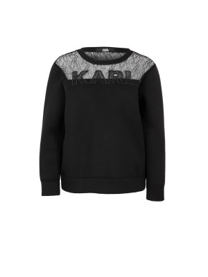 Karl Lagerfeld Karl Lace & Neoprene Sweat Sweatshirt