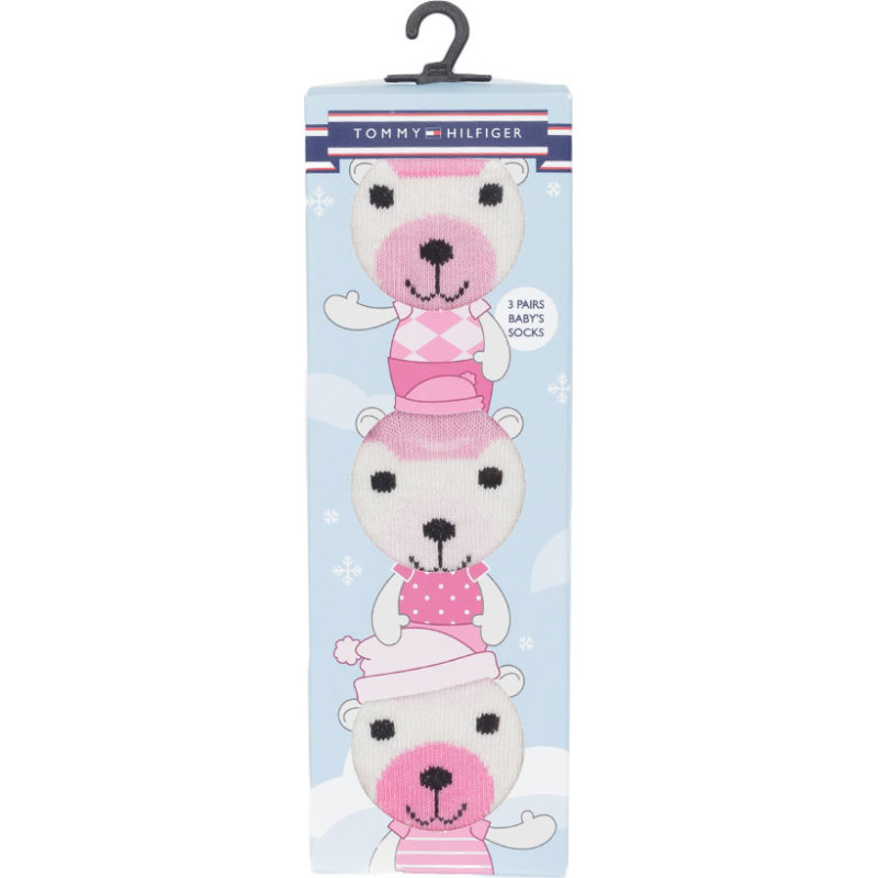 Skarpety Baby Giftbox 3-pack Tommy Hilfiger różowy