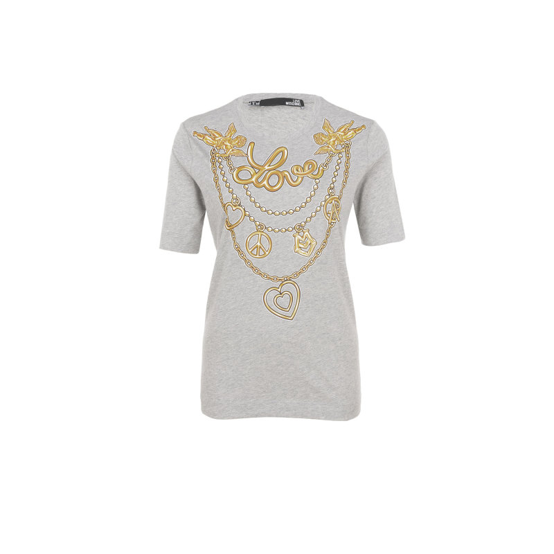 T-shirt Love Moschino szary