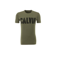 T-shirt Dusty Olive Calvin Klein Jeans oliwkowy