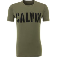 T-shirt Dusty Olive Calvin Klein Jeans oliwkowy