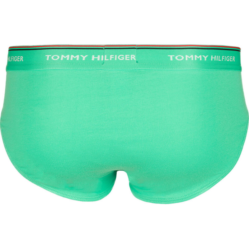 Slipy 3-pack Tommy Hilfiger turkusowy