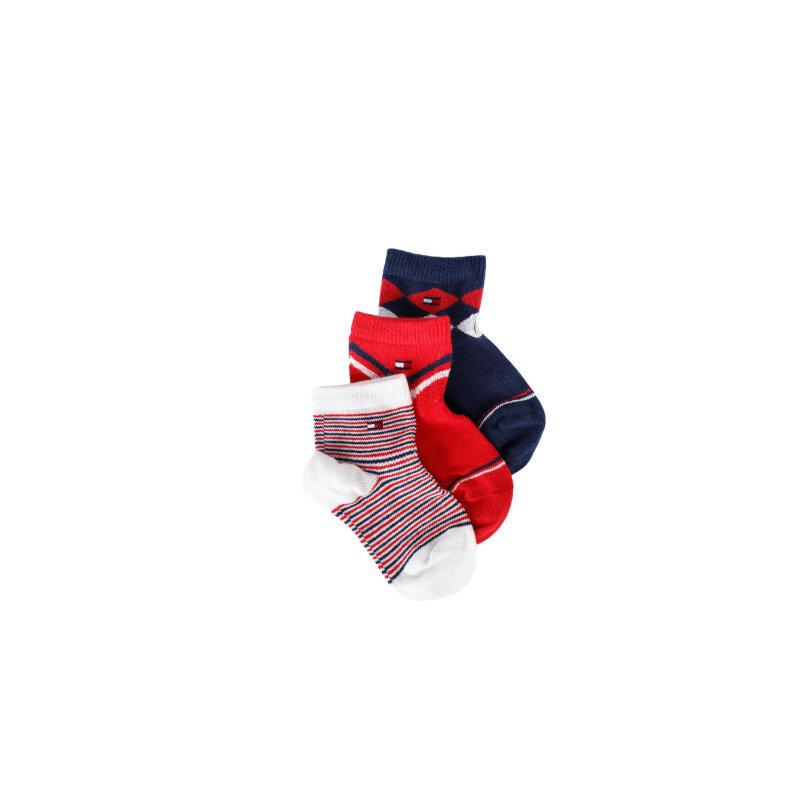 Skarpetki 3-pack Tommy Hilfiger czerwony