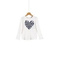 Bluzka Hearts Mini Tommy Hilfiger kremowy