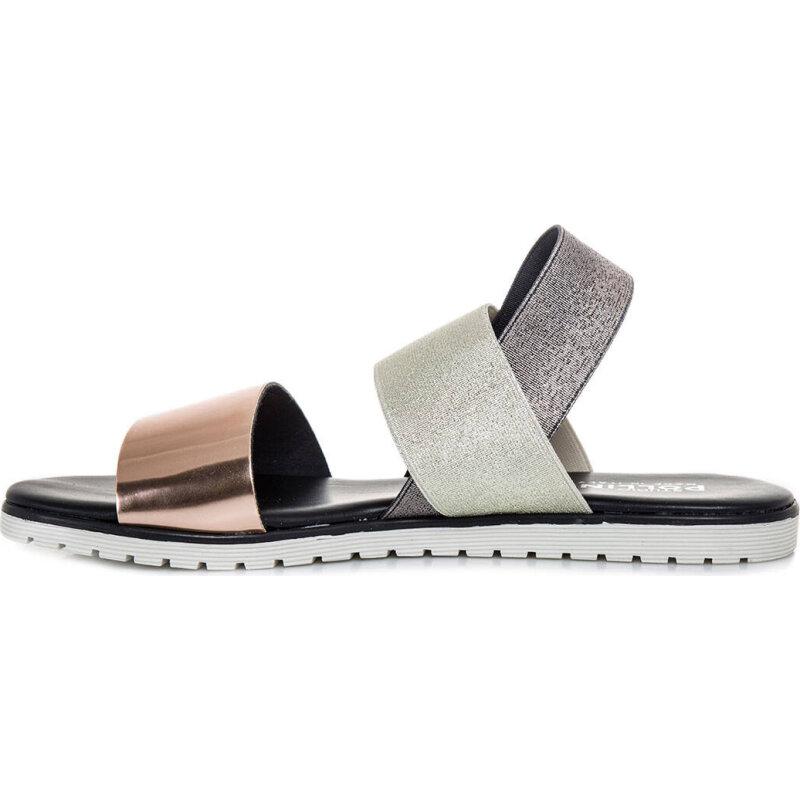 Sandals Pollini gold