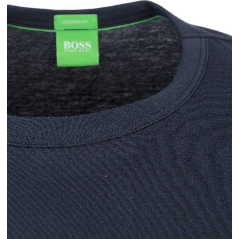 T-Shirt Tee Boss Green granatowy