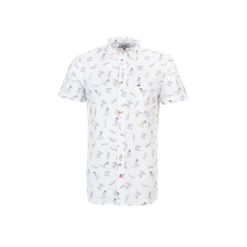 Printed shirt Hilfiger Denim white
