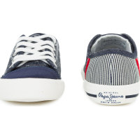 Britt Fabric Sneakers Pepe Jeans London navy blue